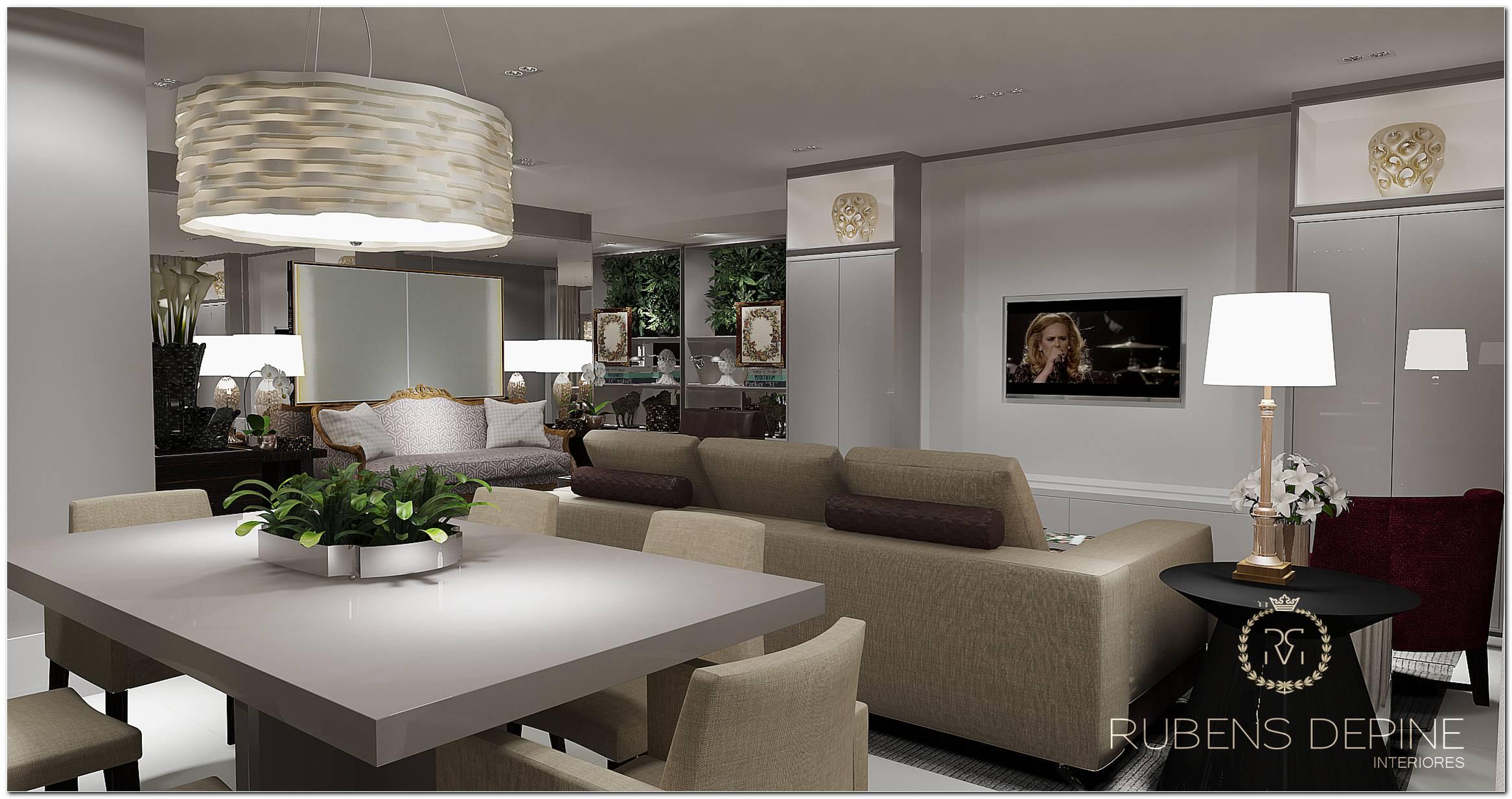 Sala De Jantar E Tv Apartamento