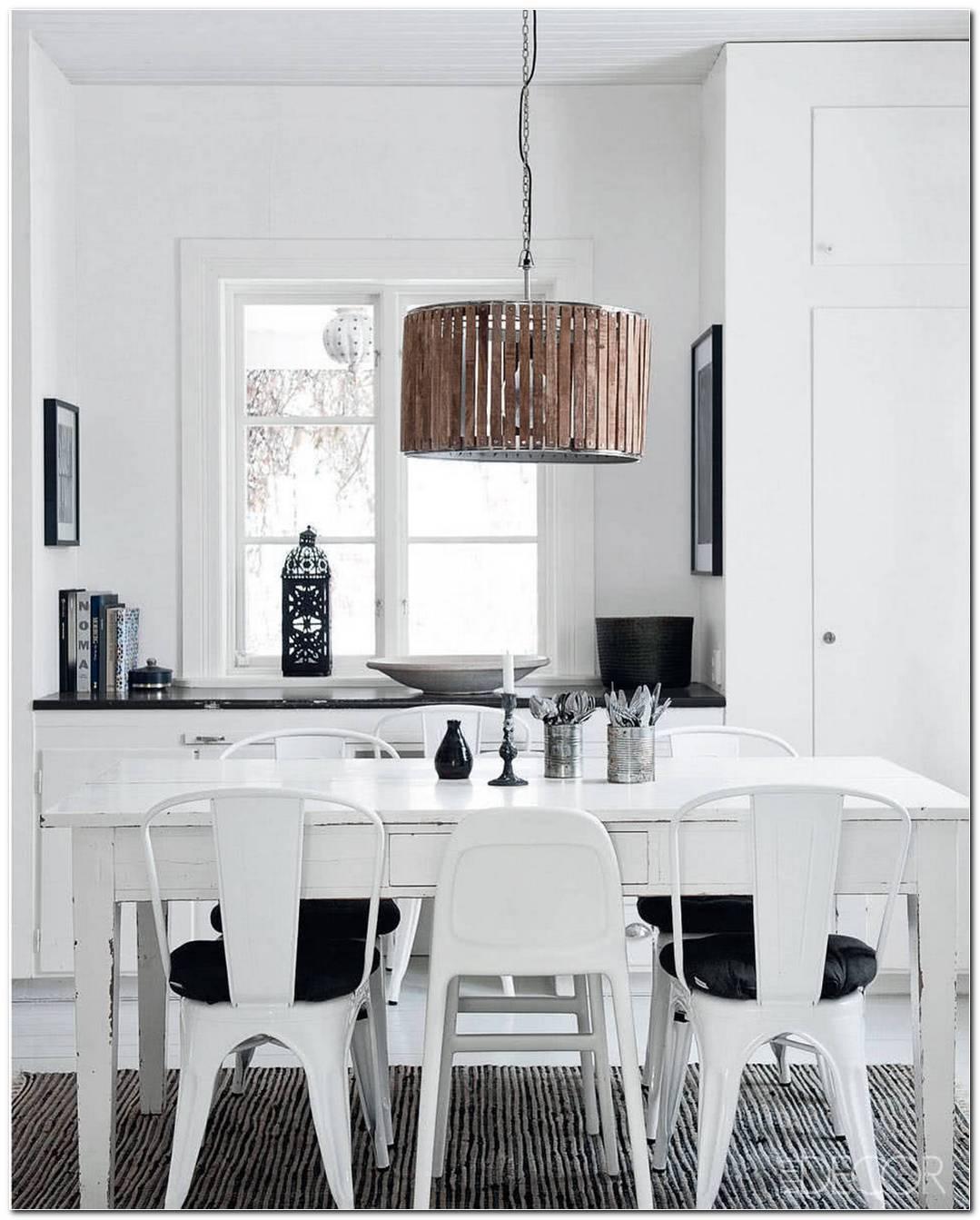 Sala De Jantar Em Preto E Branco