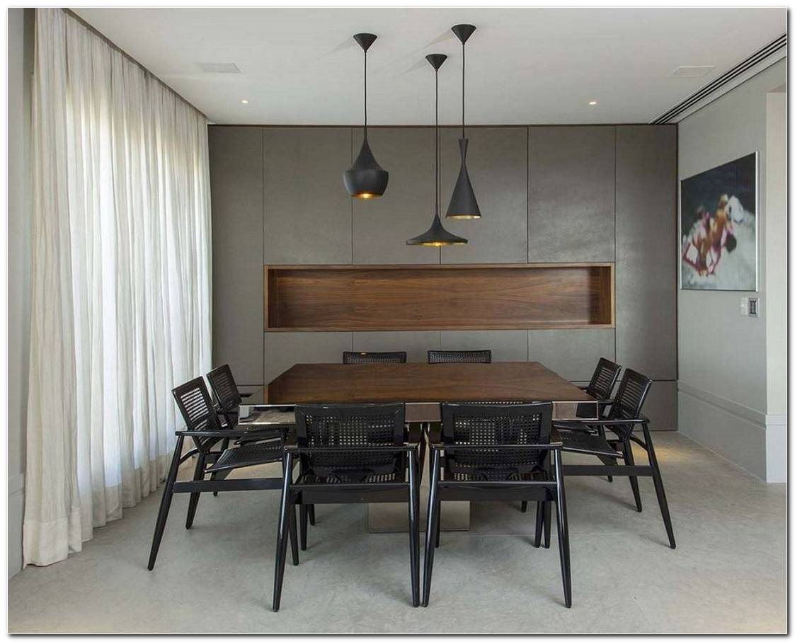 Sala De Jantar Grande Moderna