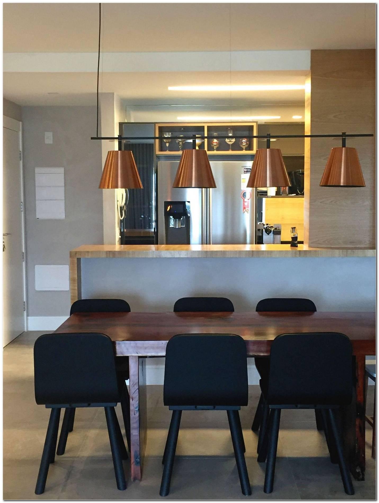 Sala De Jantar Integrada Com Cozinha Americana