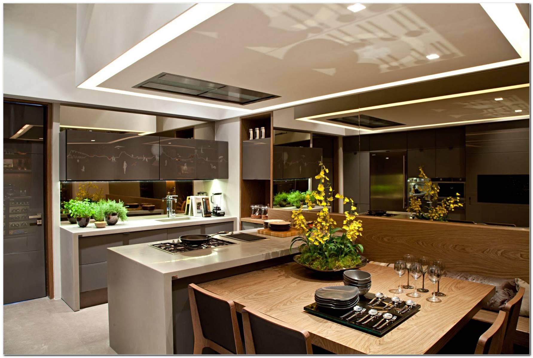 Sala De Jantar Junto Com A Cozinha