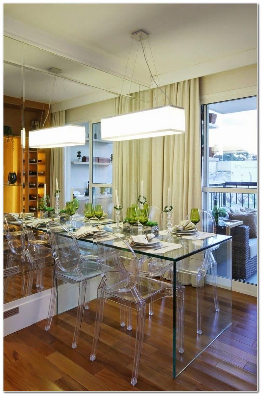 Sala De Jantar Pequena Com Mesa De Vidro
