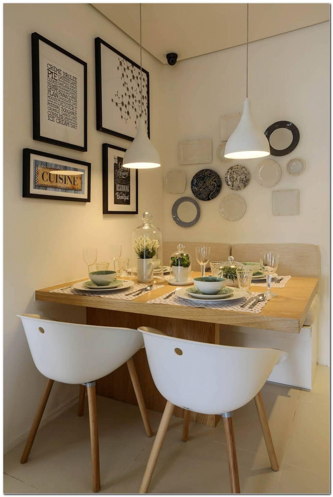 Sala De Jantar Pequena Com Mesa Quadrada