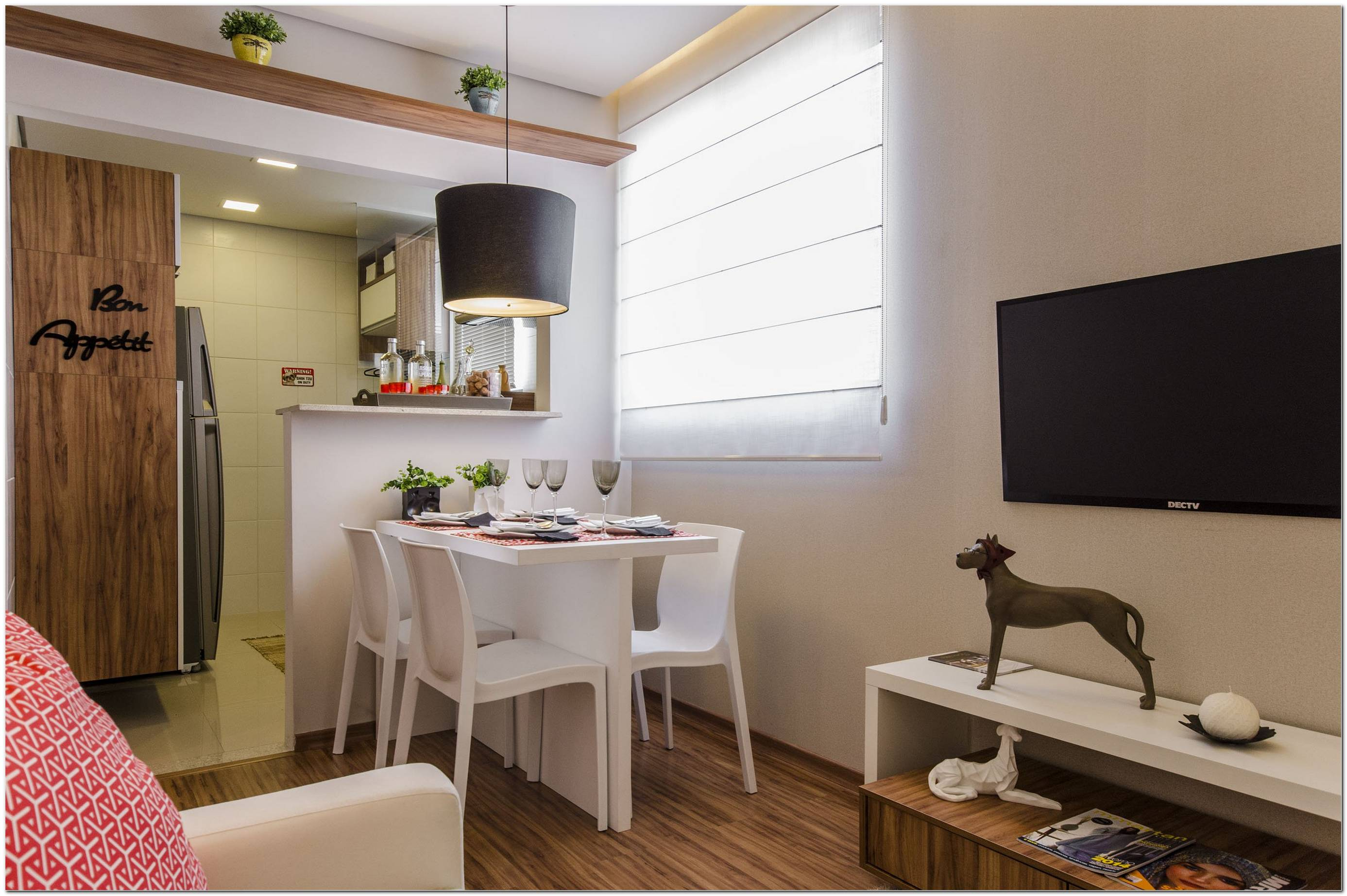 Sala De Jantar Pequena Decorada Apartamento