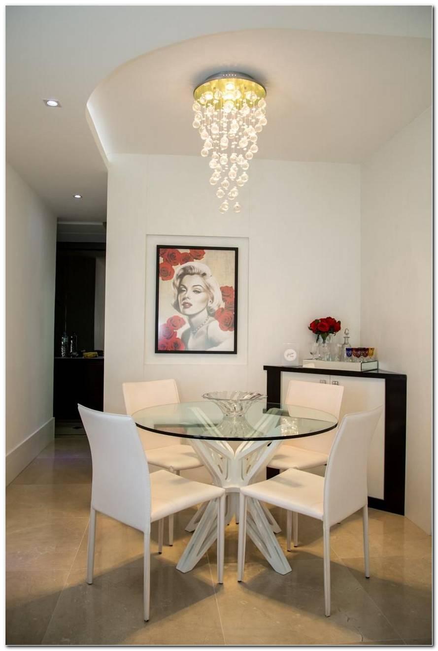 Sala De Jantar Pequena Mesa Redonda Ou Quadrada