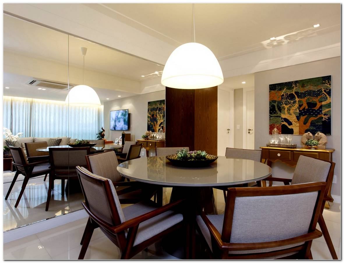 Sala De Jantar Pequena Mesa Redonda Ou Retangular