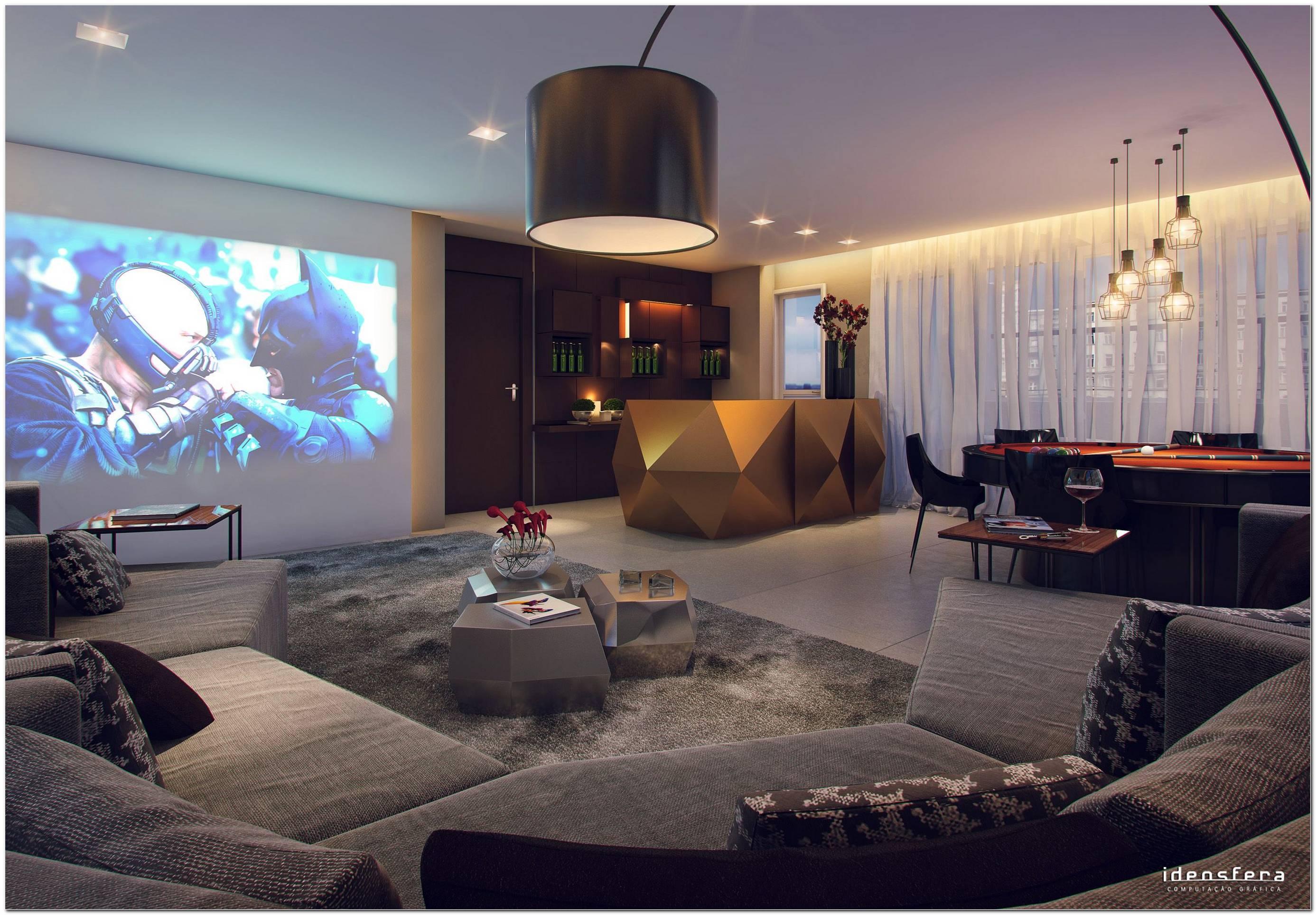 Sala De Jogos Com Tv