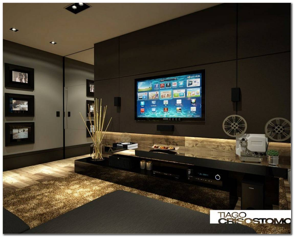 Sala De Tv Com Home Theater