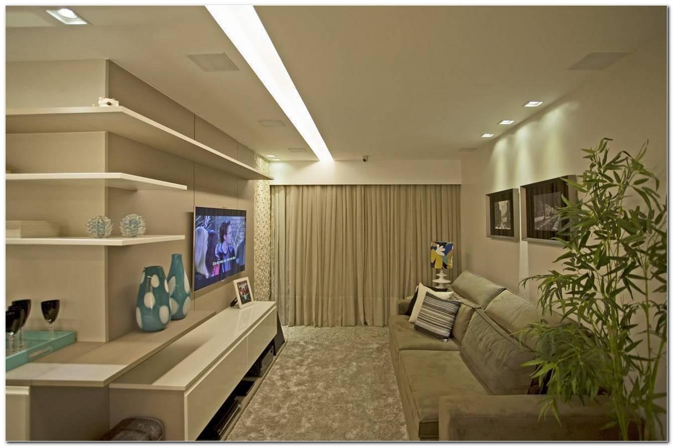 Sala De Tv Com Iluminacao