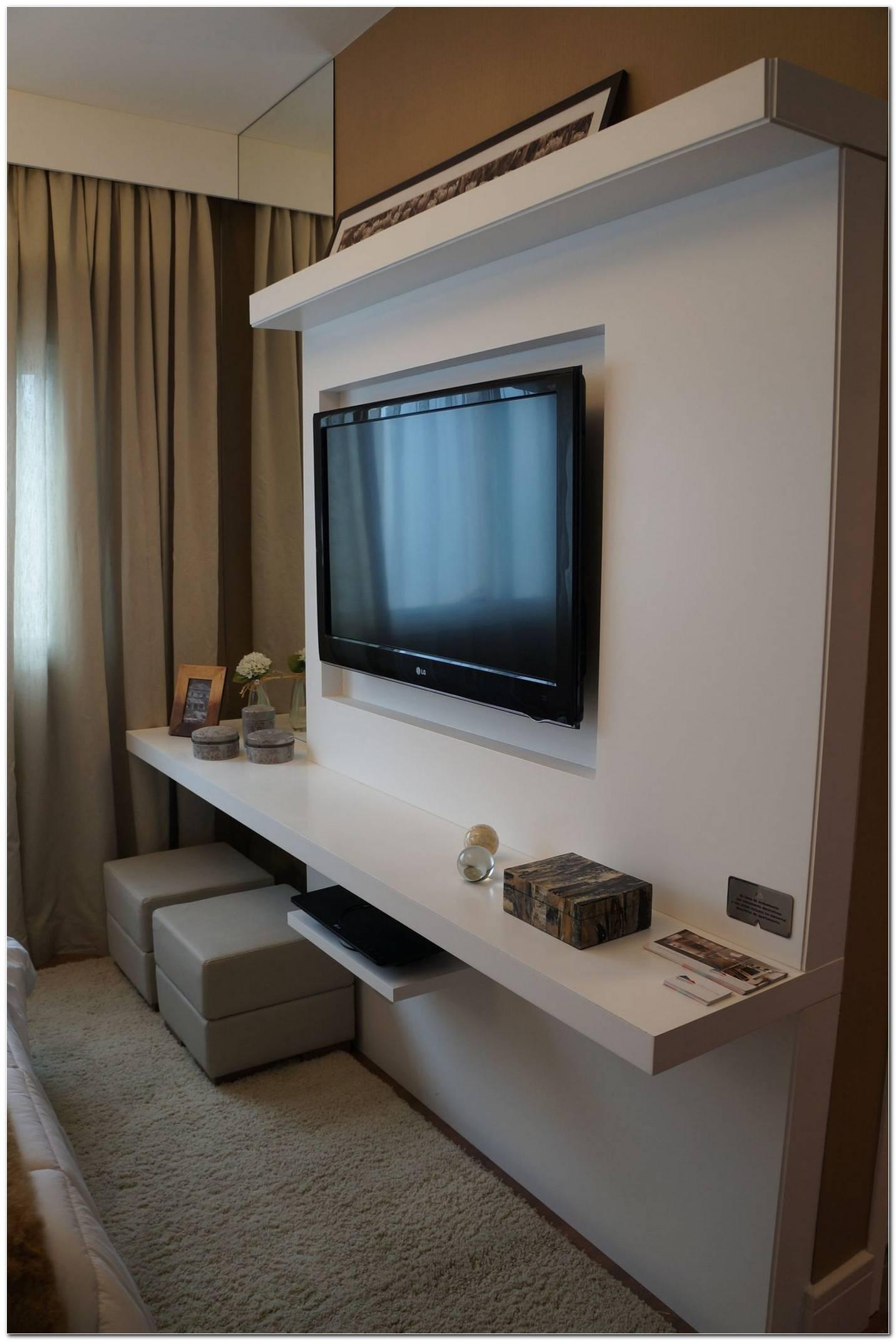 Sala De Tv Com Painel Branco