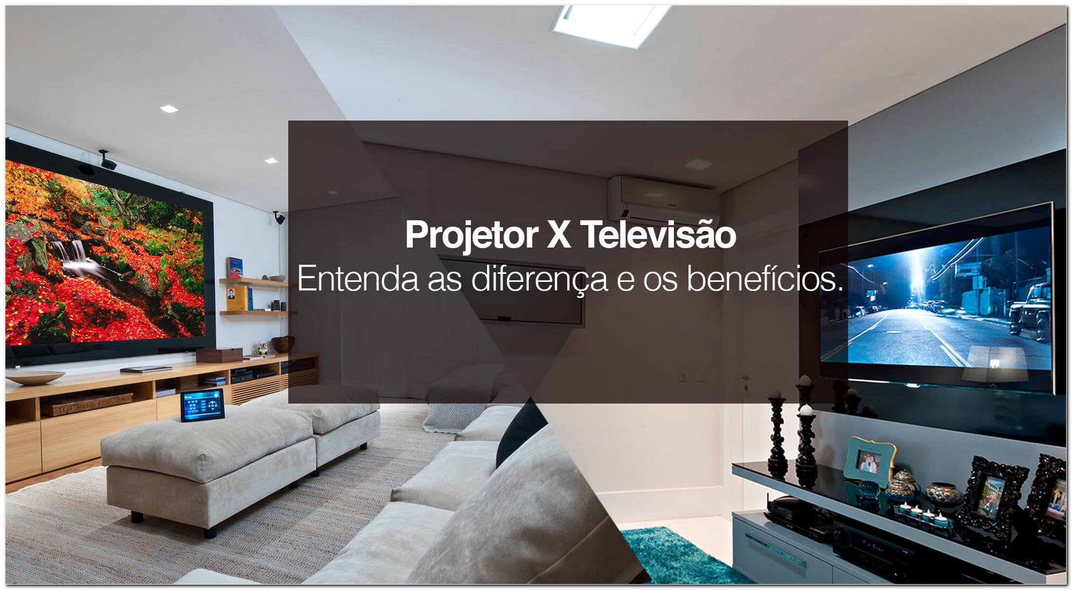 Sala De Tv Com Projetor