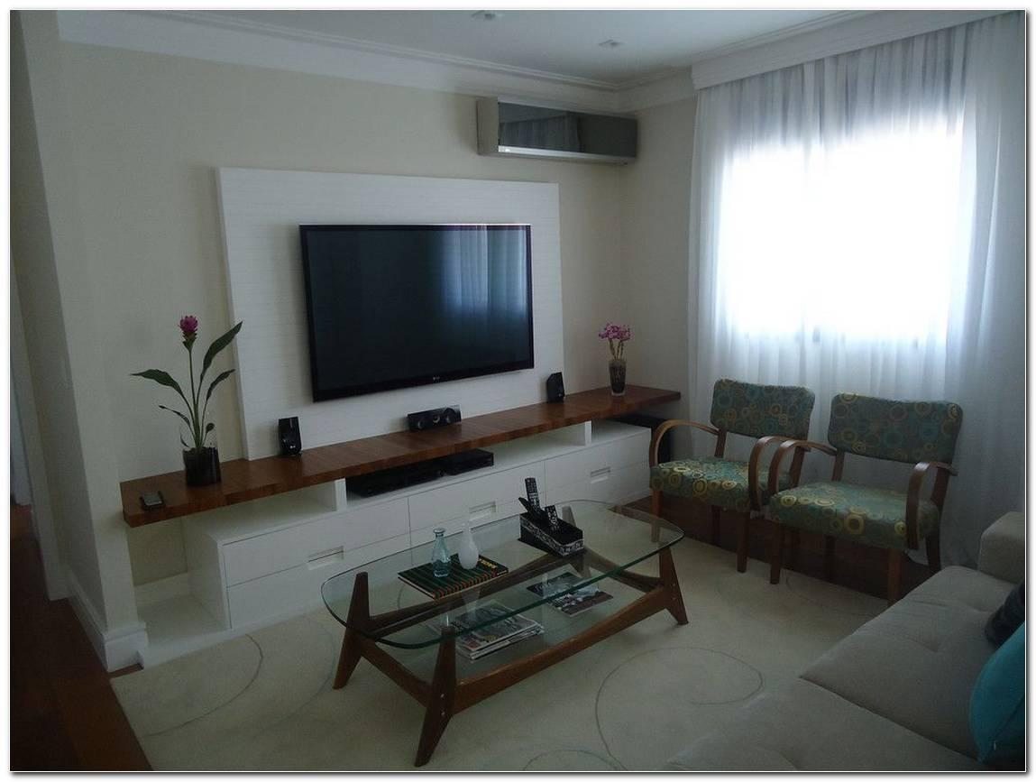 Sala De Tv Com Rack E Painel