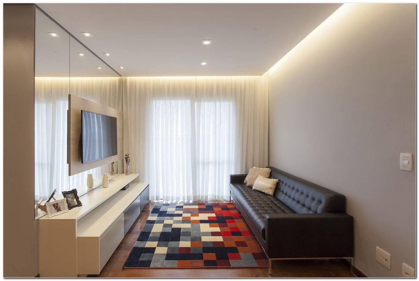 Sala De Tv Com Sofá Preto