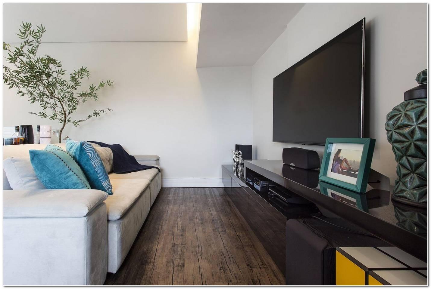 Sala De Tv Com Sofa Branco
