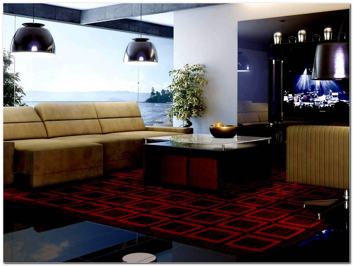 Sala De Tv Com Tapete Vermelho