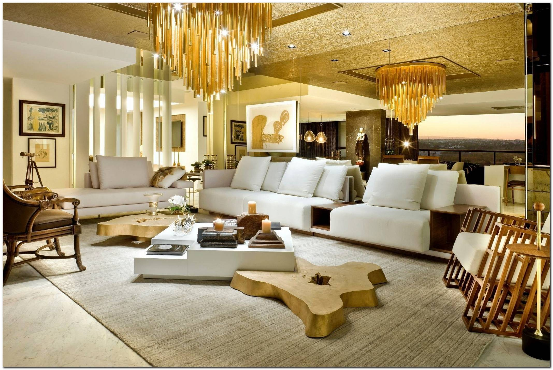 Sala De Tv Grande De Luxo