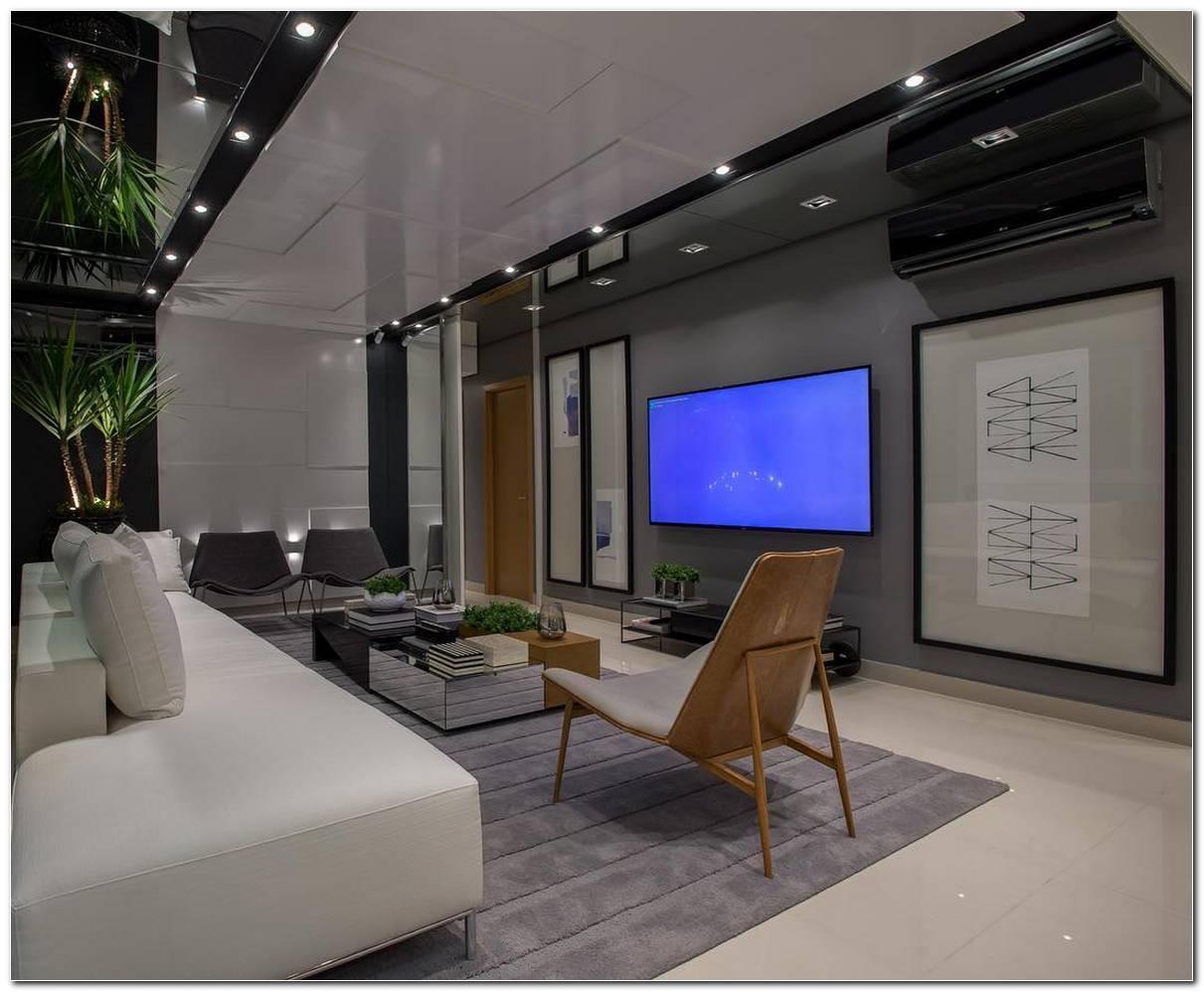 Sala De Tv Grande E Moderna