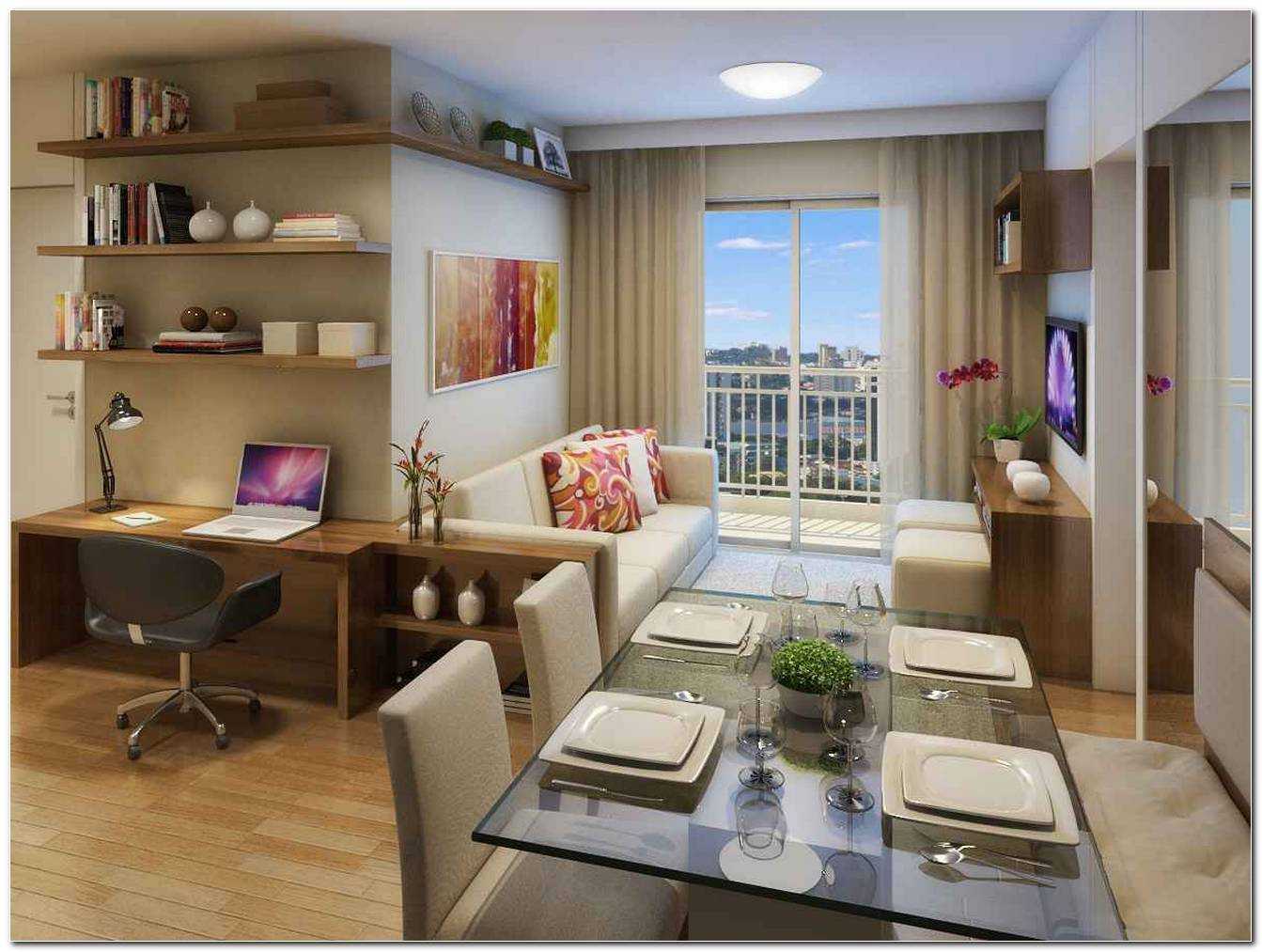 Sala De Tv Para Apartamento Pequeno