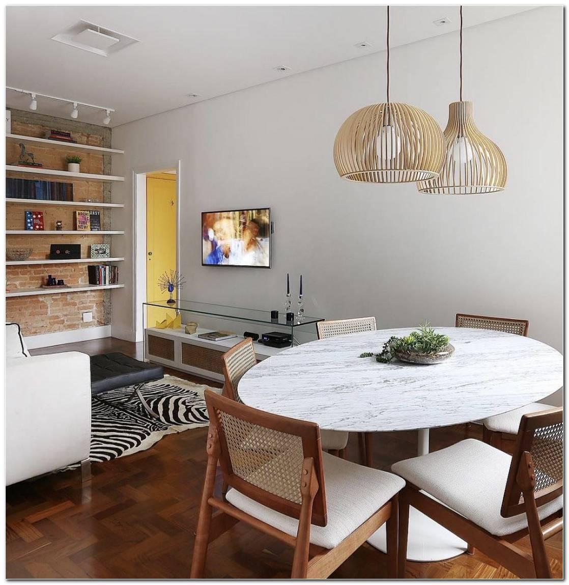 Sala De Tv Pequena Com Mesa De Jantar
