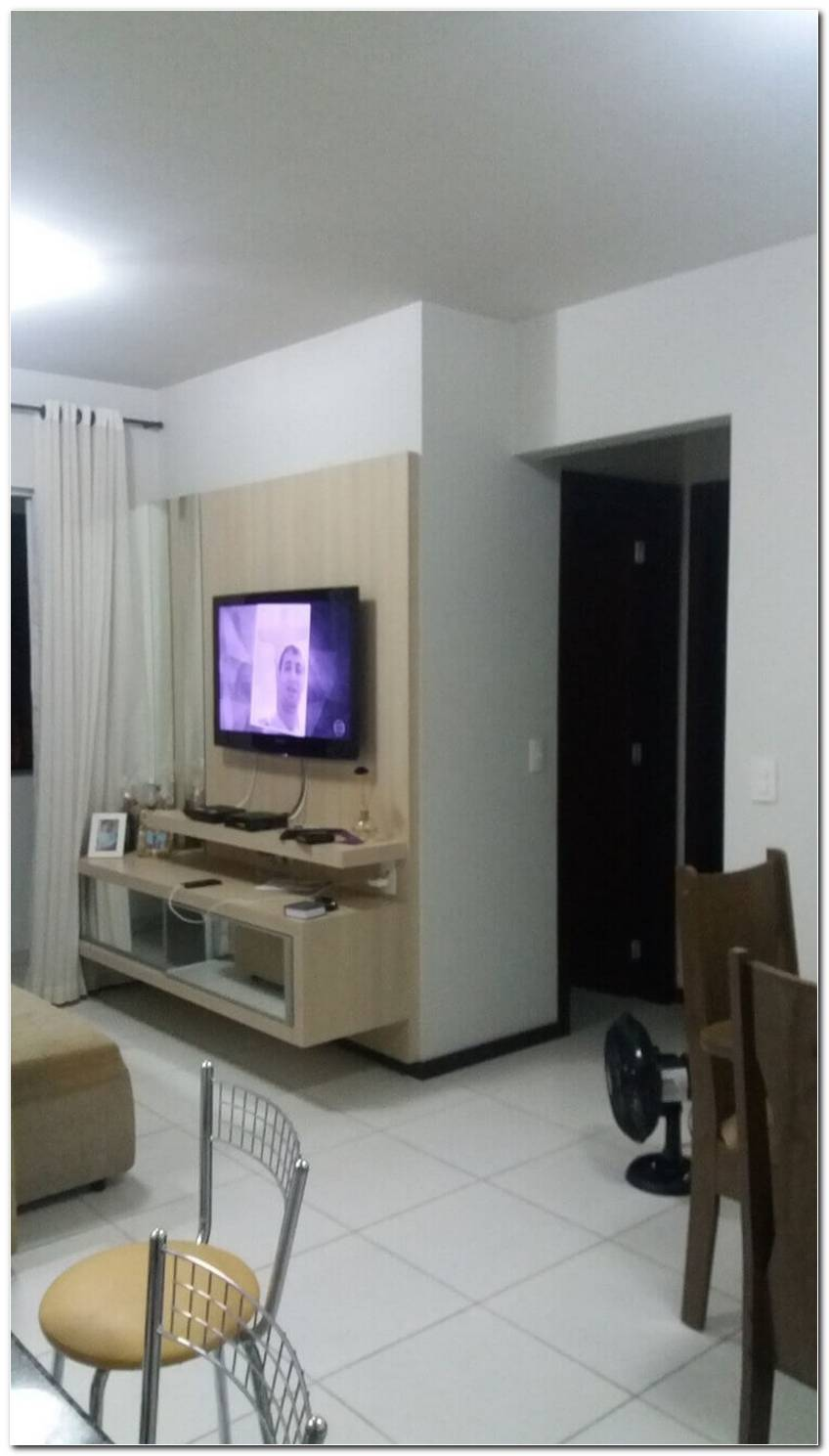 Sala De Tv Pequena Com Painel