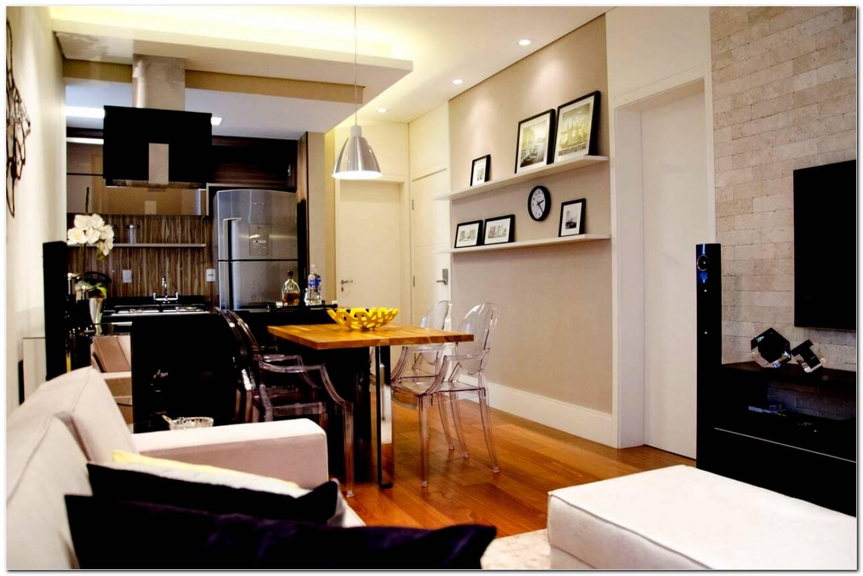 Sala De Tv Pequena Com Sala De Jantar