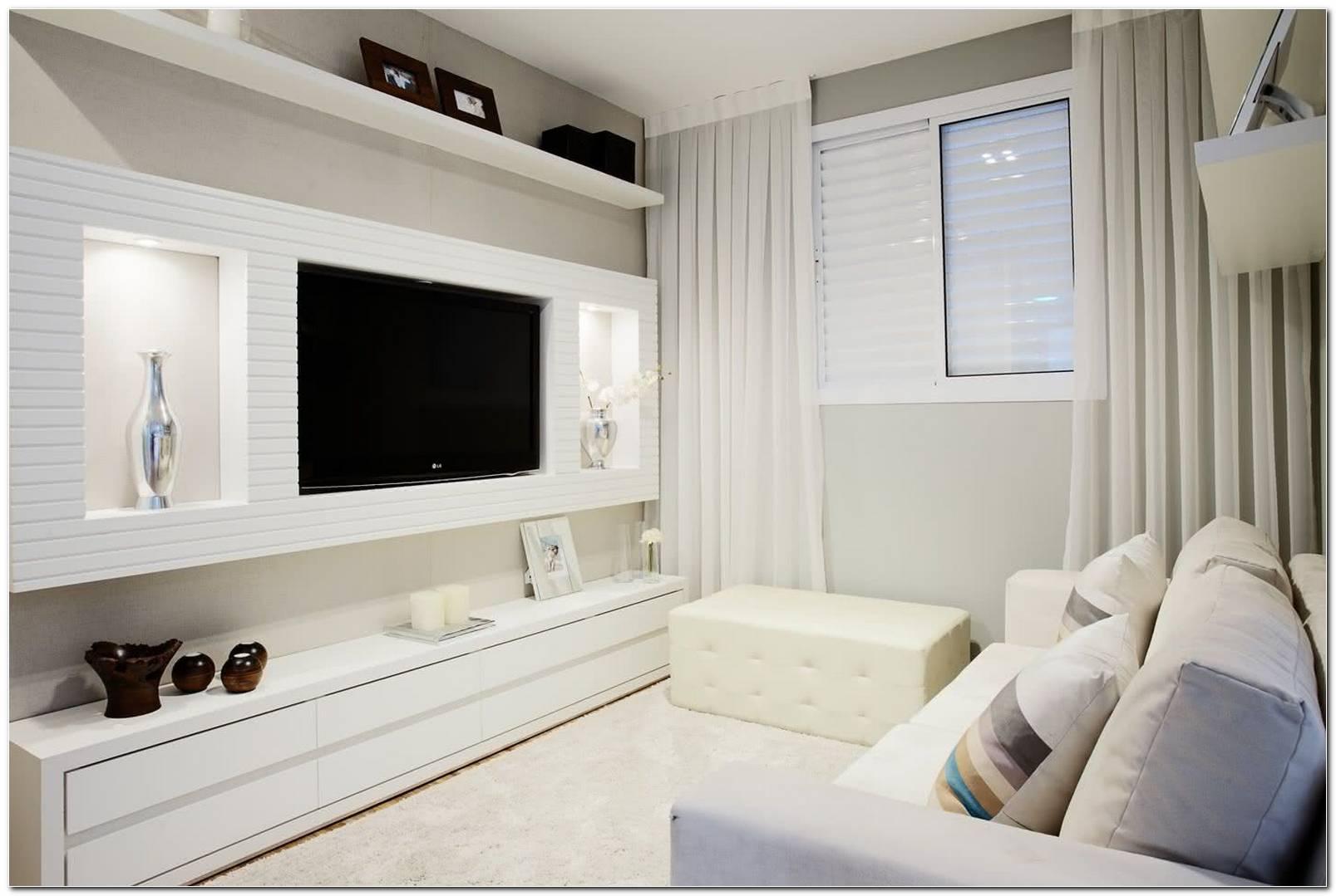 Sala De Tv Pequena E Moderna
