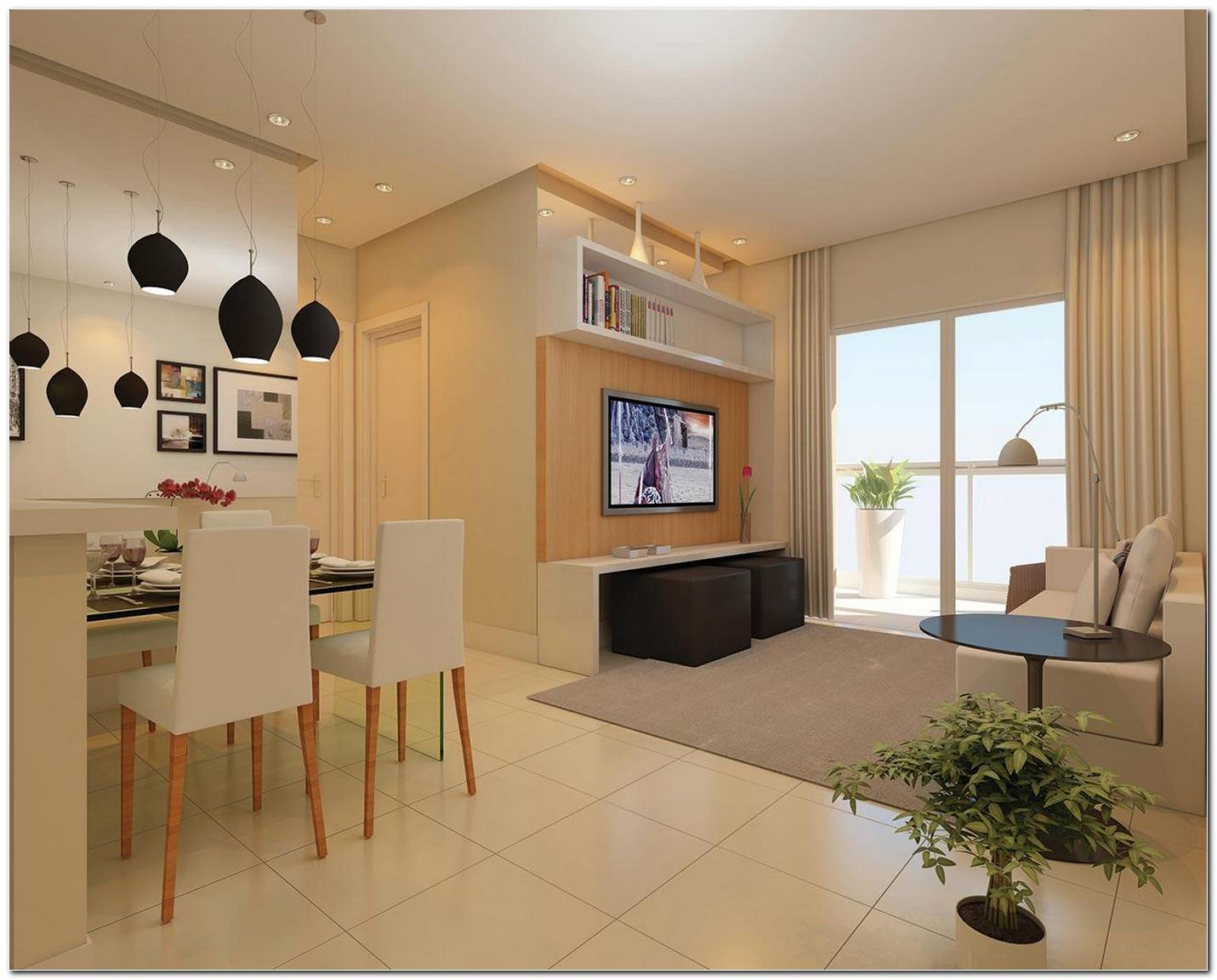 Sala De Tv Pequena Planejada