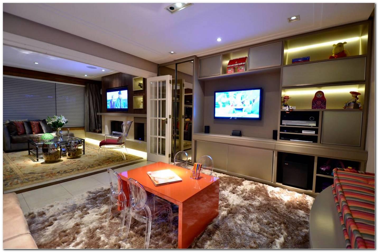 Sala De Tv Simples E Moderna