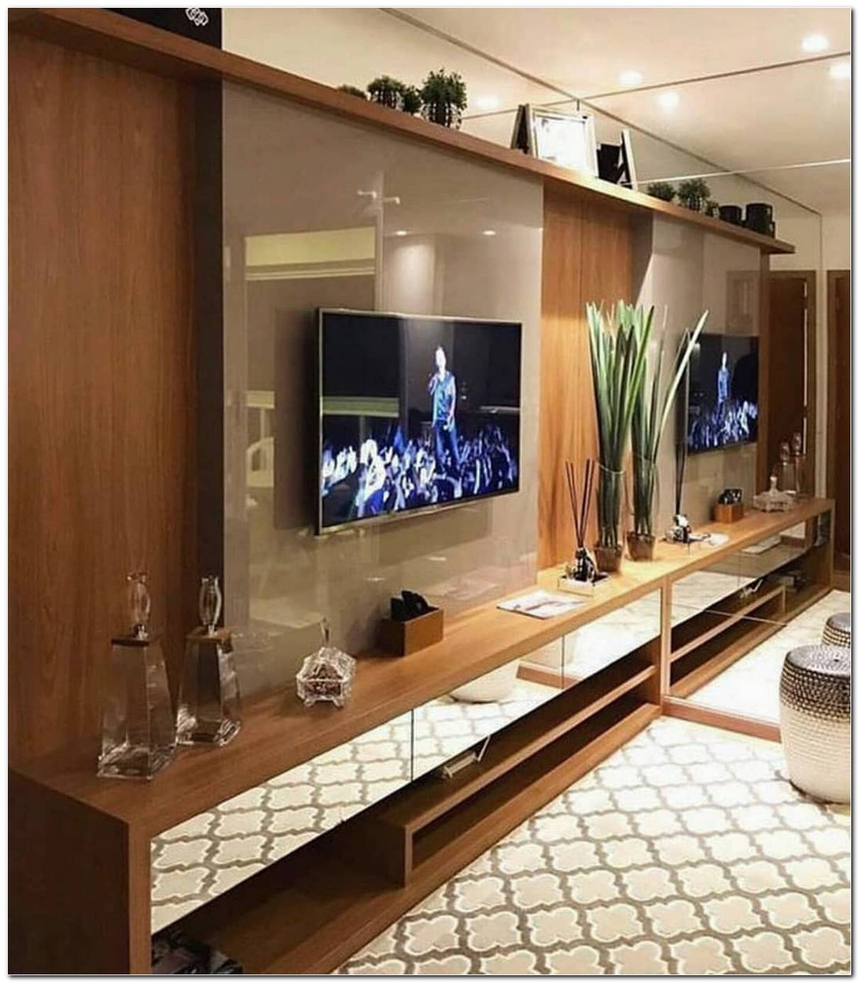 Sala Decorada Com Tv Na Parede
