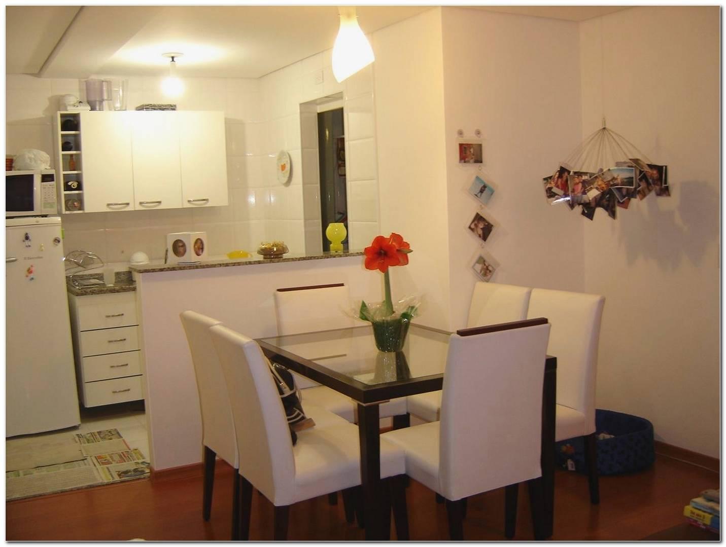 Sala E Cozinha Pequena Simples