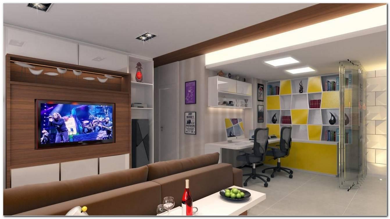 Sala Estar Con Home Office