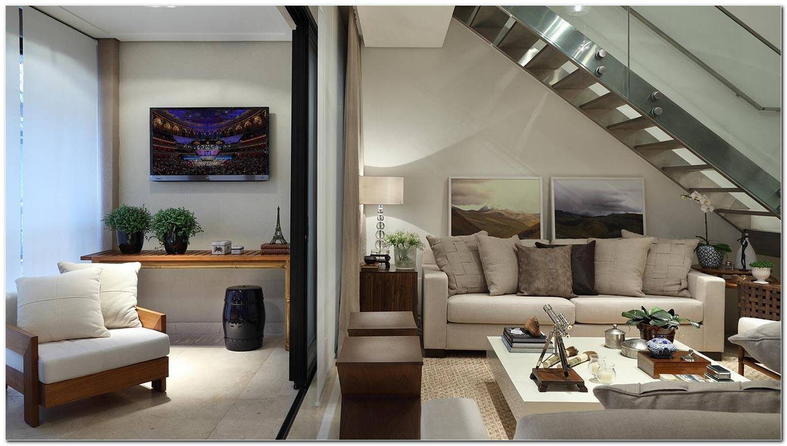 Sala Pequena Com Escada