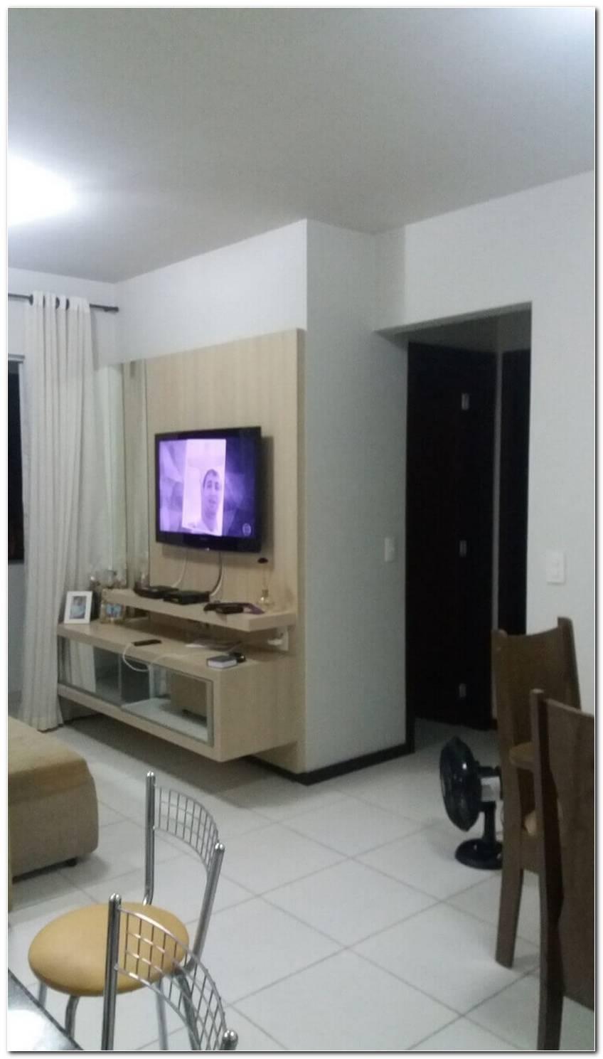Sala Pequena Com Painel De Tv