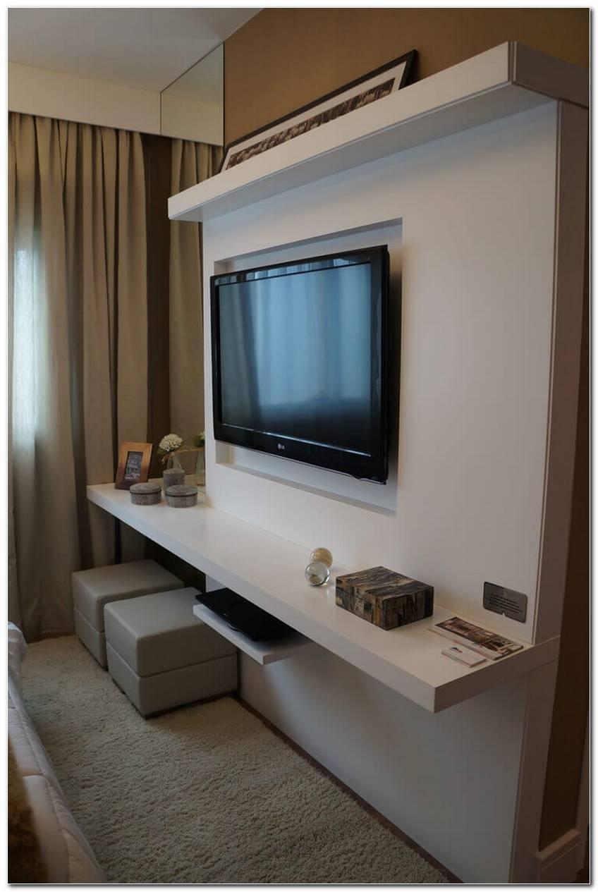 Sala Pequena Com Painel Para Tv