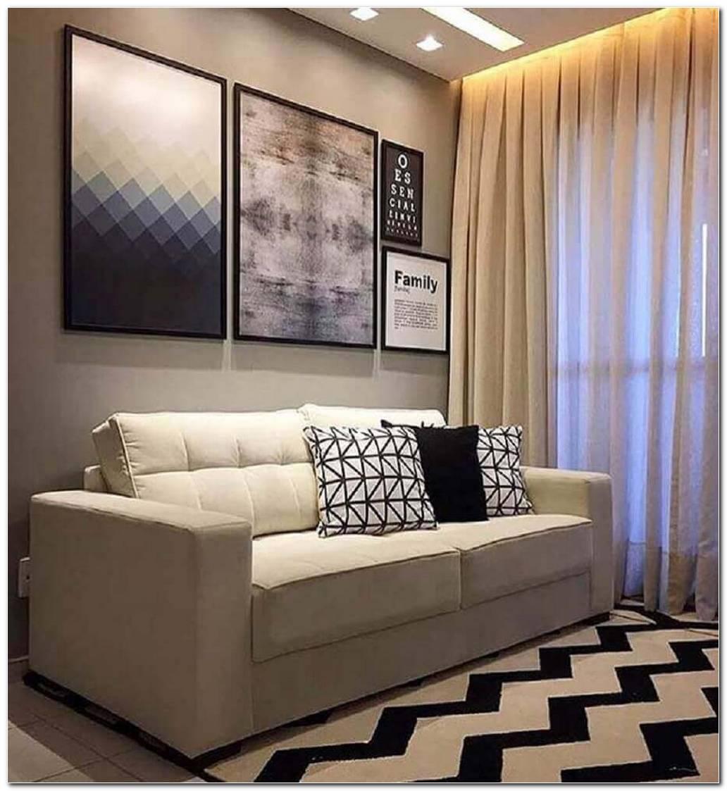 Sala Pequena Com Sofá Em L