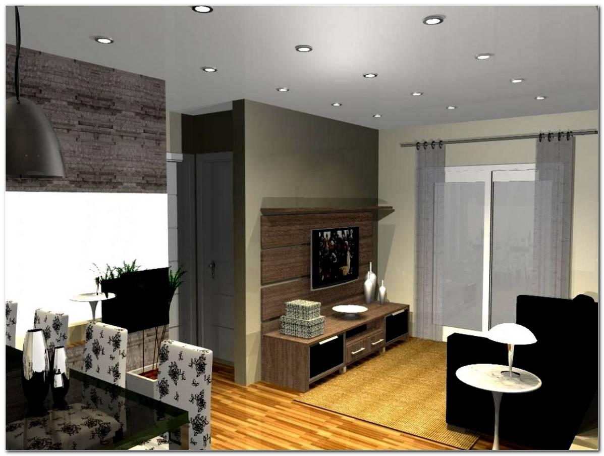 Sala Pequena Com Sofa Preto