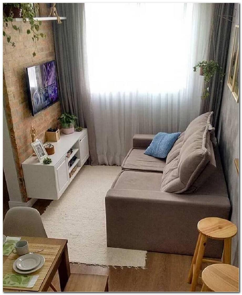 Sala Pequena Com Um Sofá