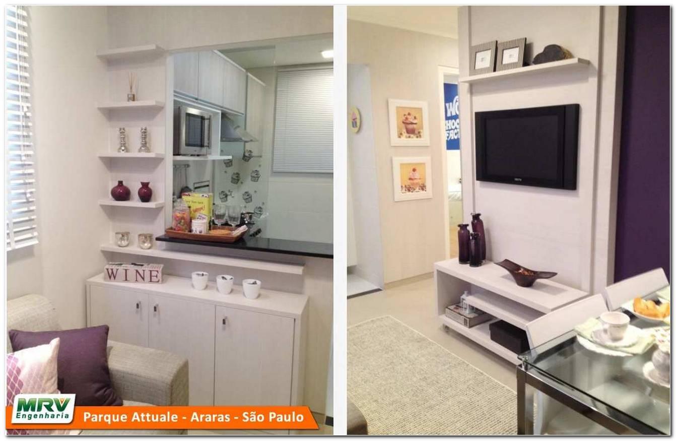 Sala Pequena Decorada Apartamento
