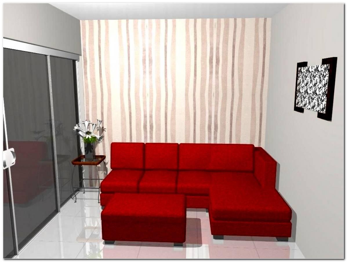 Sala Pequena Decorada Com Vermelho