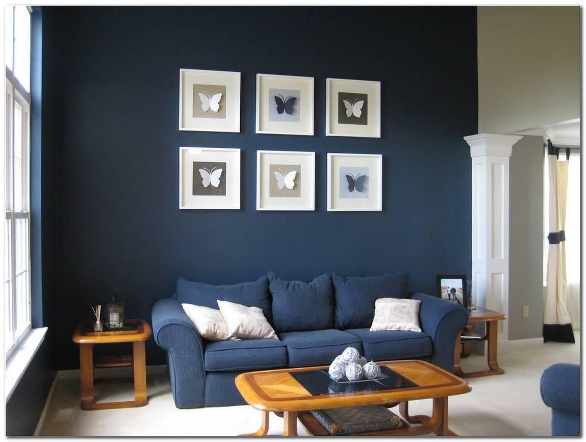 Sala Pequena Decorada De Azul