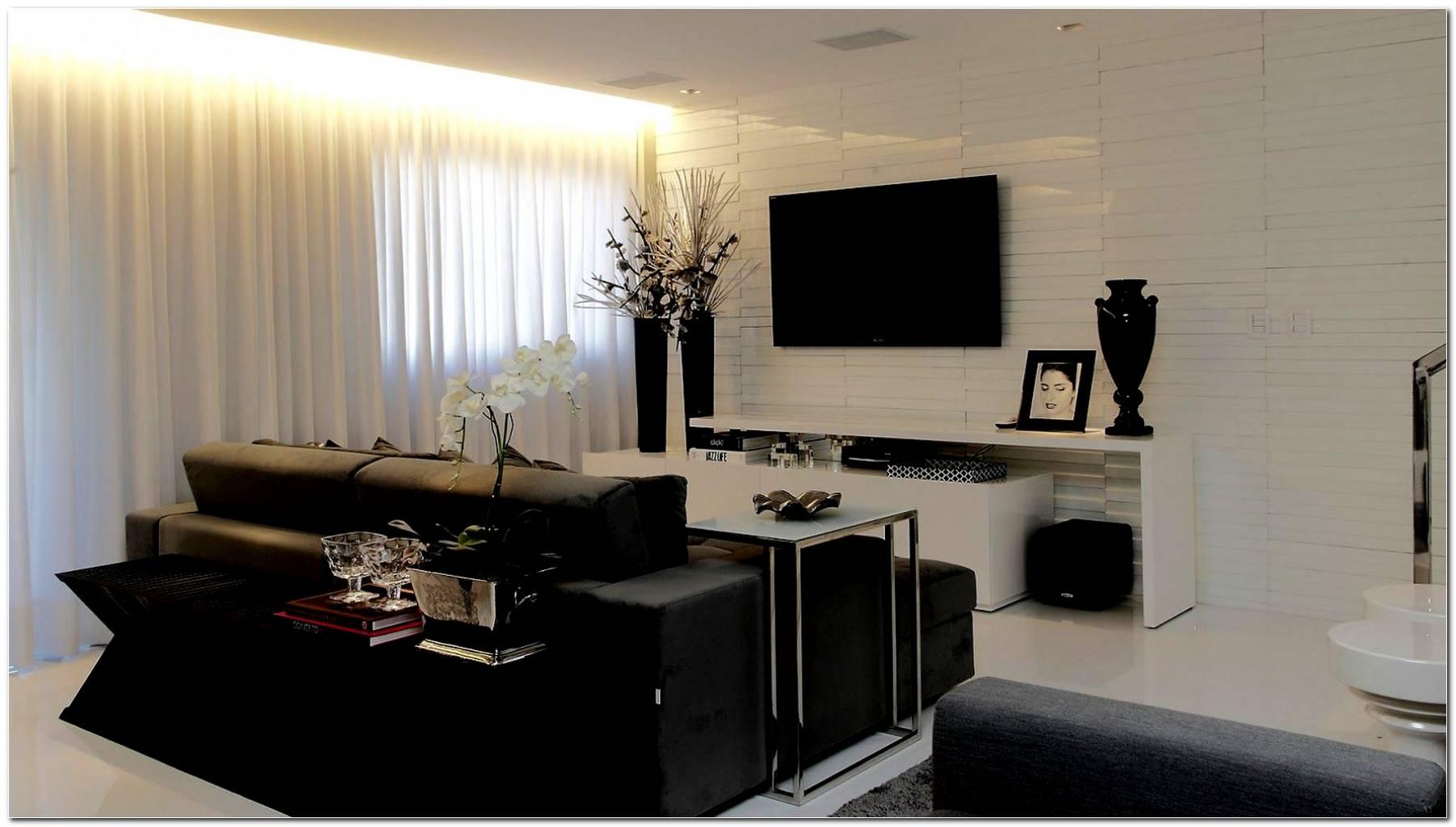 Sala Pequena Decorada Preto E Branco