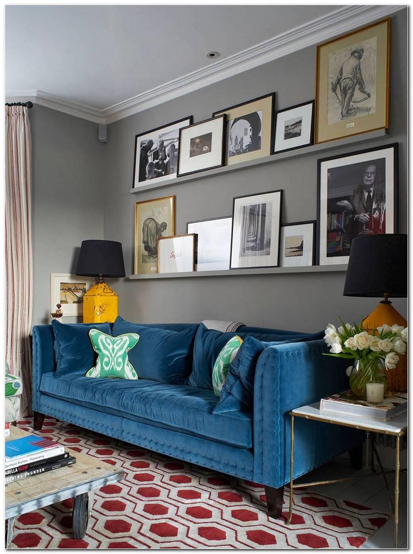 Sala Pequena Sofa Azul