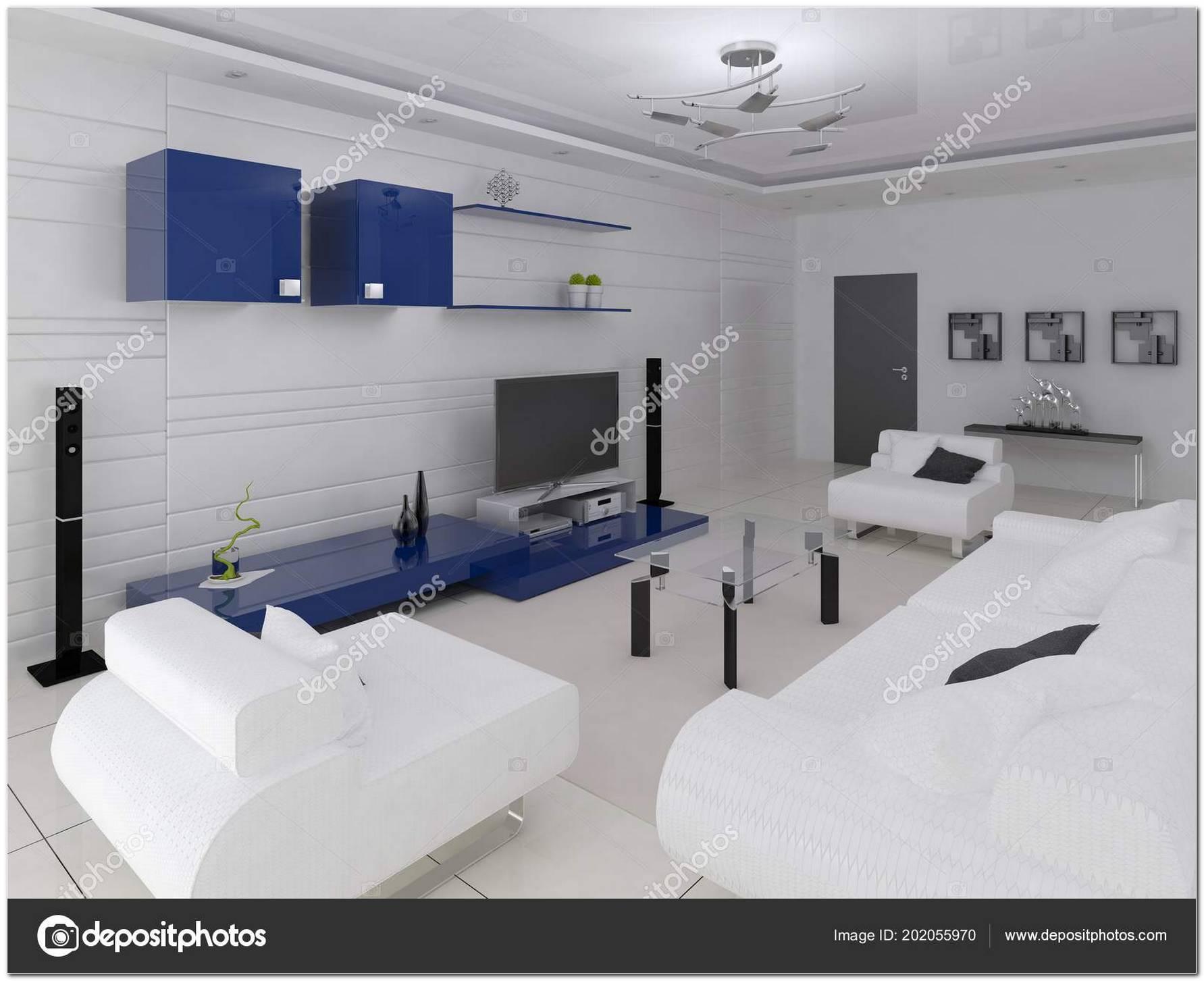 Salas De Estar Moderna E Funcional