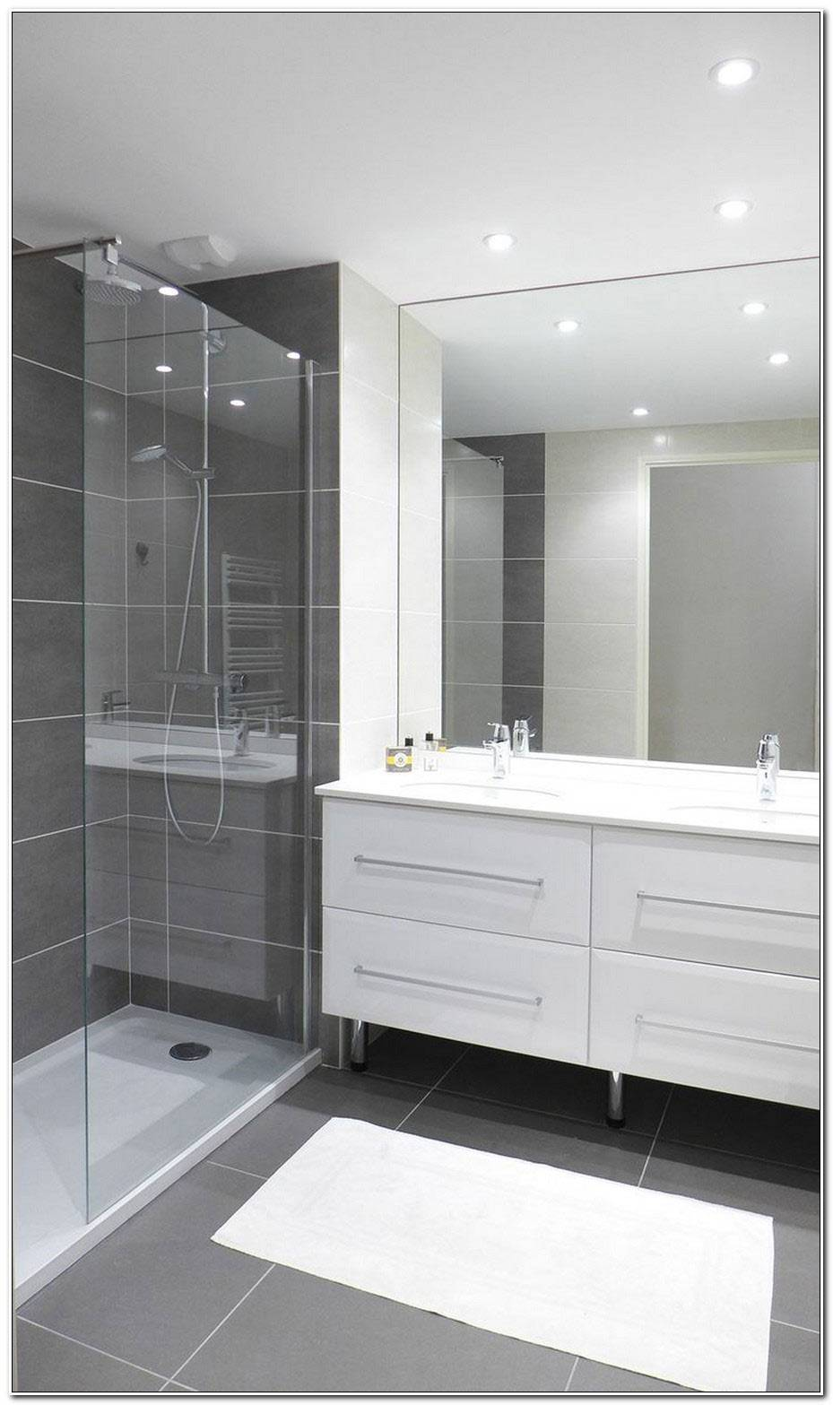 Salle De Bain Moderne Blanc Et Gris