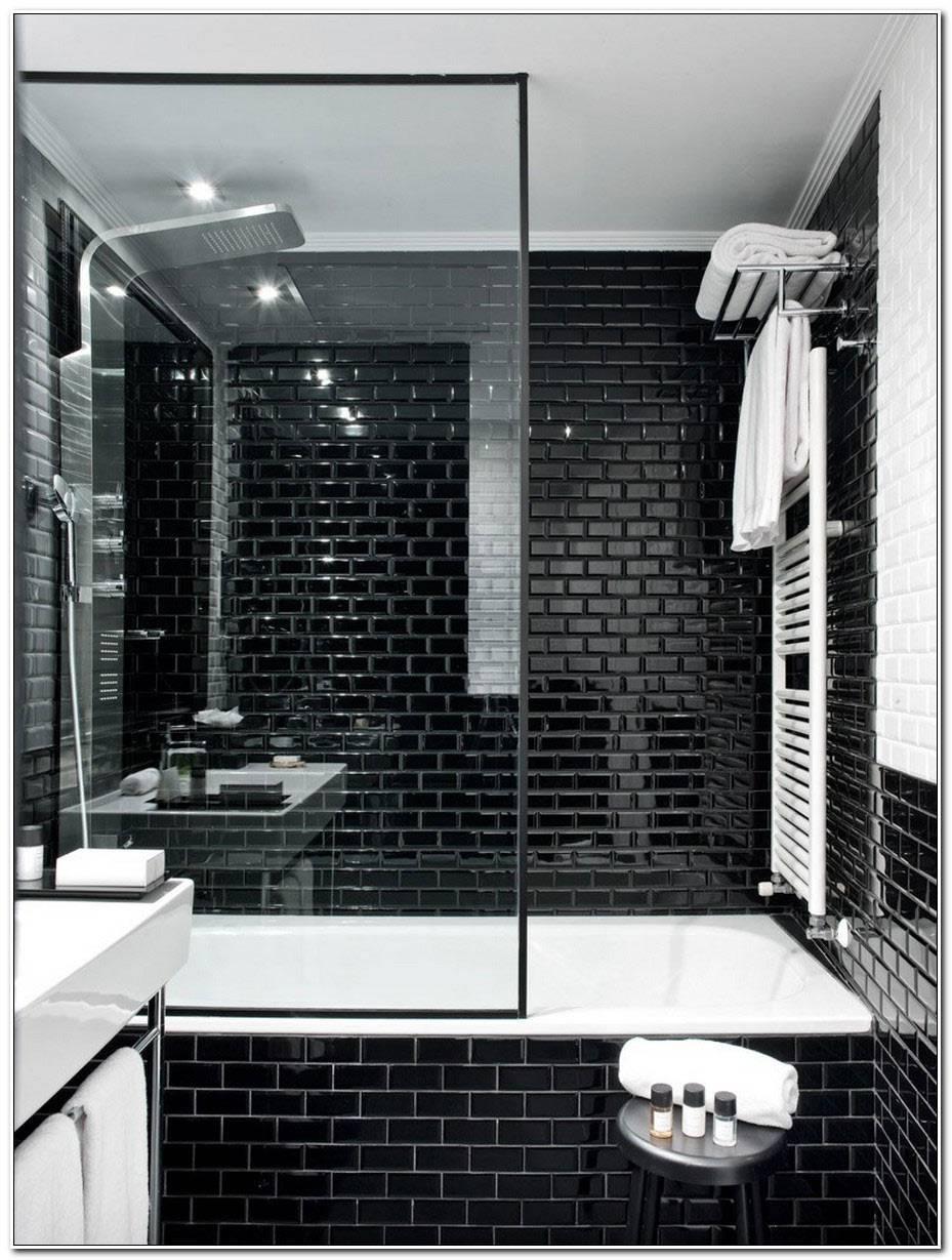 Salle De Bain Noir Et Blanc Design