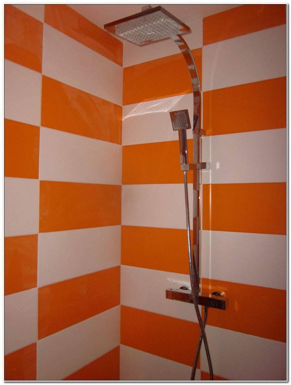 Salle De Bain Orange Et Blanc