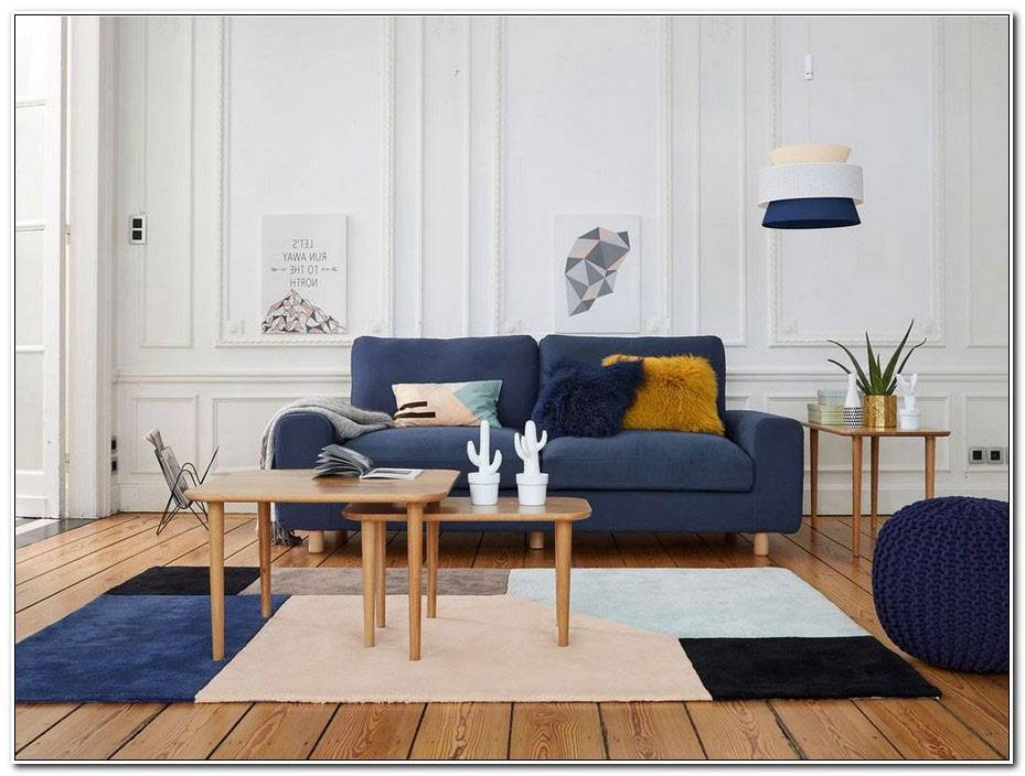 Salon Bleu Scandinave