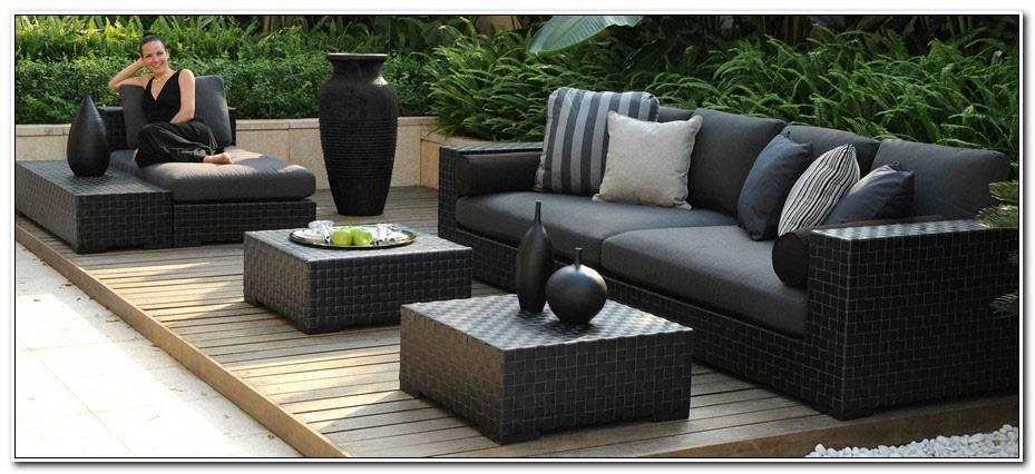 Salon De Jardin En Resine Tressee Noire Modele Lounge