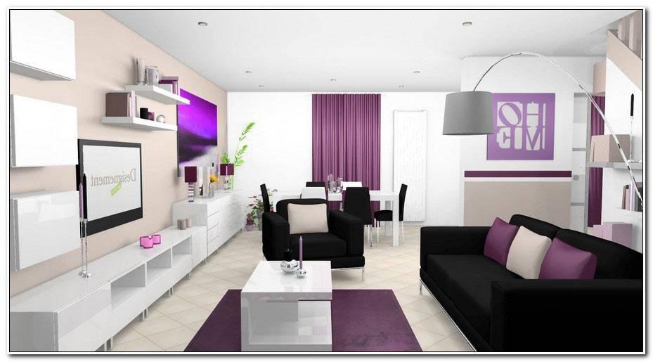 Salon Violet Et Beige