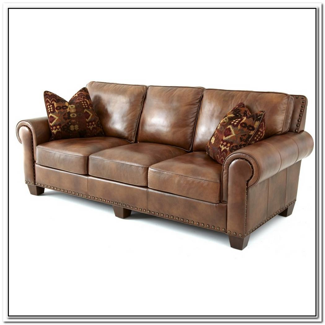 San Remo Contemporary Leather Sofa